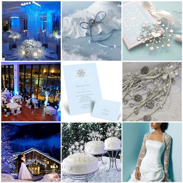 Boje na zimskom vjenčanju