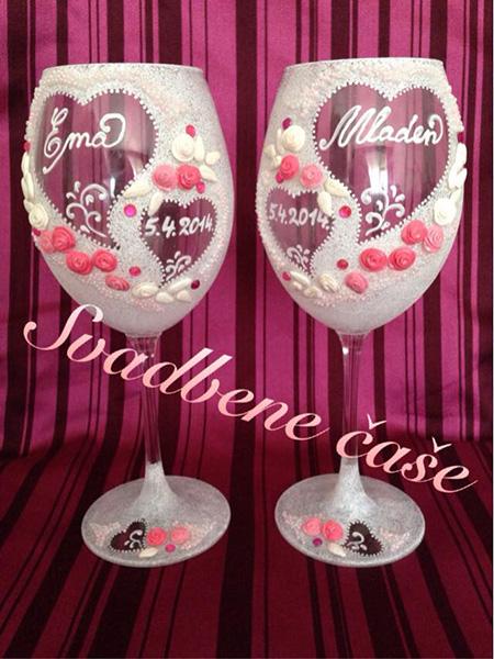 Svadbene čaše na vjenčanju