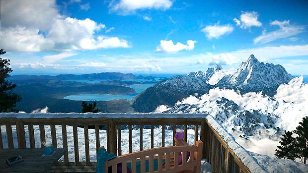 Uživanje u pogledu na planine