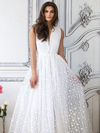 Lurelly Ambrosia Embroidered Gown