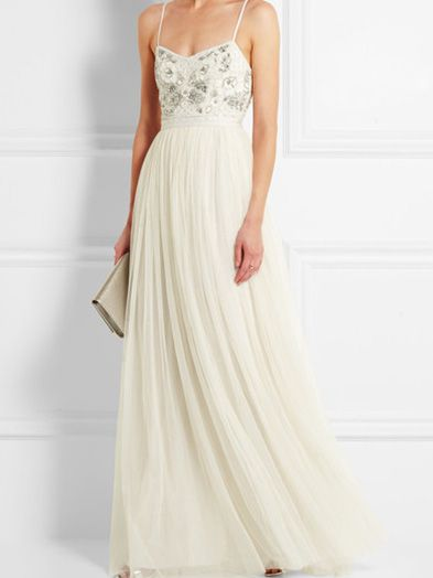 Needle & Thread Embellished Tulle Gown