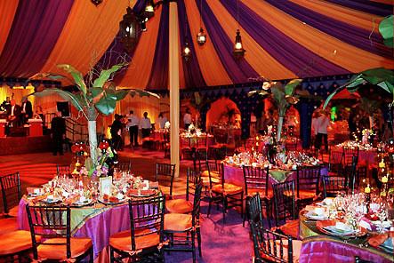 Narančasto-ljubičasto vjenčanje