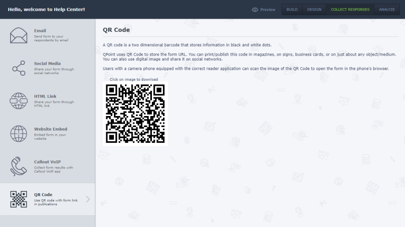 Ability to use QR Code allows you to share it in magazines, business cards etc.