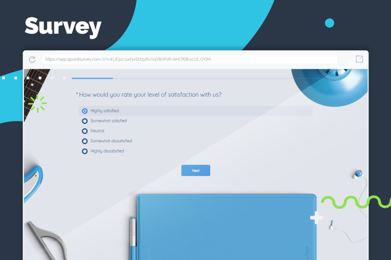 Create beautiful surveys with QPoint