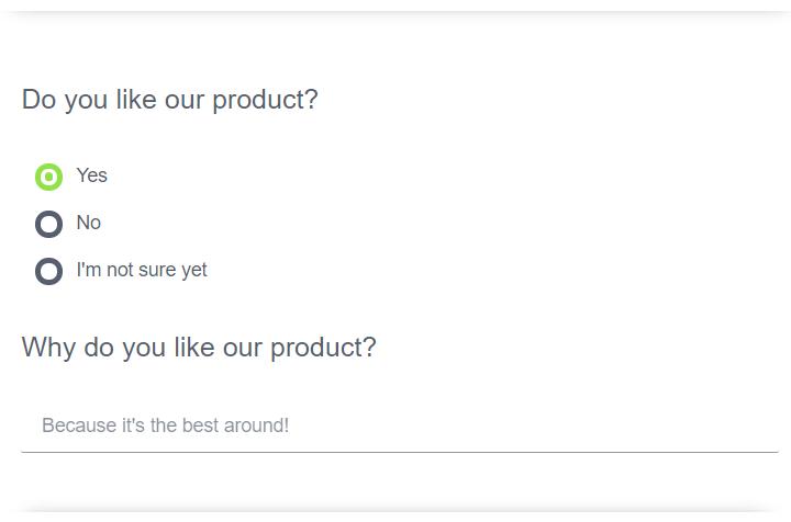 Question grup question type