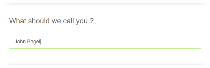 Single textline question type