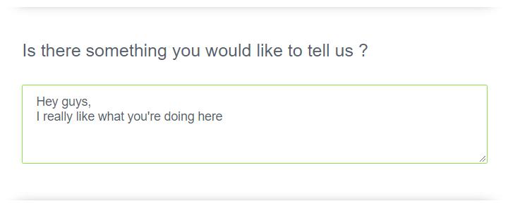 Multiline text question type