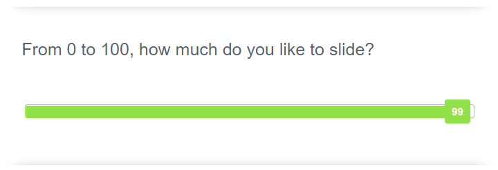 Slider question type