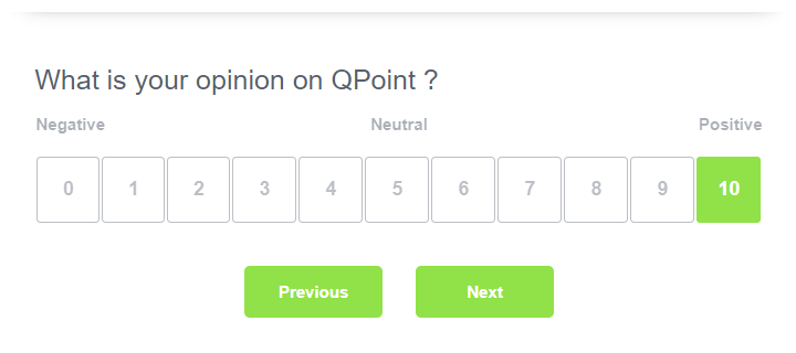Opinion scale question type